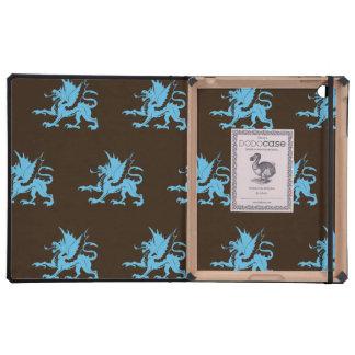 Dragons Blue Brown iPad Case
