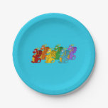 Dragons cartoon 7 inch paper plate
