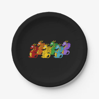 Dragons cartoon paper plate