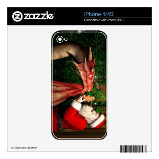 Dragons Christmas Decal For iPhone 4