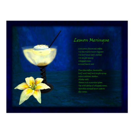 Dragons Cocktail Bar: Lemon Meringue Postcard