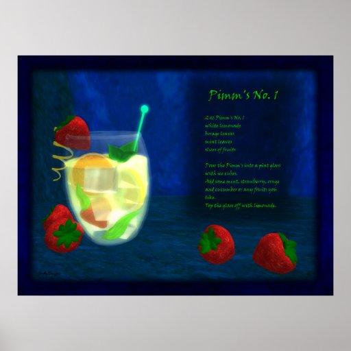 Dragons Cocktail Bar: Pimms No.1 Poster