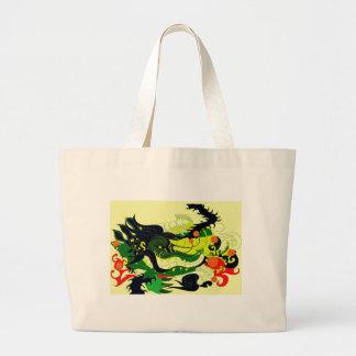 Dragons Den (Parchment) Large Tote Bag