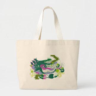 Dragons Den (pastel) Large Tote Bag