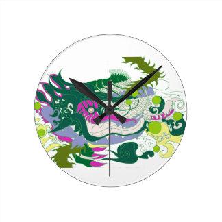 Dragons Den (Pastel) Round Clock