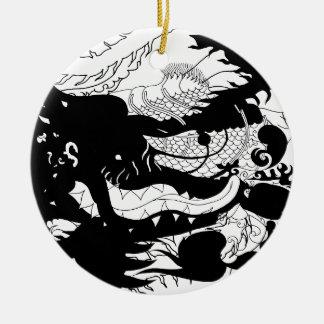 Dragons Den (Silhouette) Ceramic Ornament