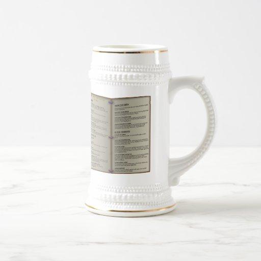 Dragon's Den Tavern Menu Coffee Mug