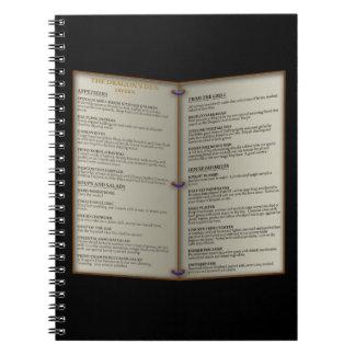 Dragon's Den Tavern Menu Notebook