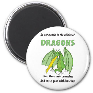 Dragons Do Not Meddle in Their Affairs Refrigerator Magnets