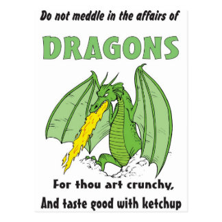 Dragons Do Not Meddle in Their Affairs Postcard