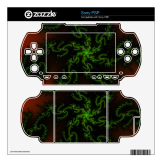 Dragon's Dream - green and red fractal art Sony PSP Decal