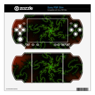 Dragon's Dream - green and red fractal art Sony PSP Slim Decals