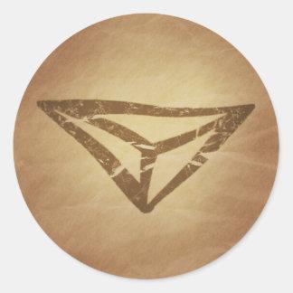 Dragon's Eye Protection Germanic Classic Round Sticker