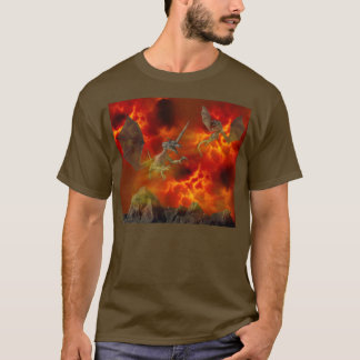 Dragons Fiery Sky T-Shirt