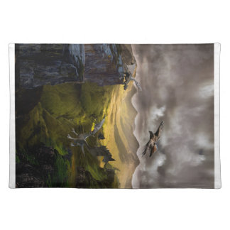 Dragons Fighting Cloth Placemat