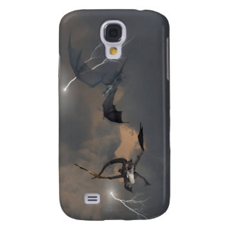 Dragons Fighting in Storm Clouds Galaxy S4 Cover