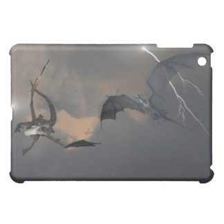 Dragons Fighting in Storm Clouds iPad Mini Cover