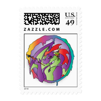 Dragons Flame Creations Postage Stamp