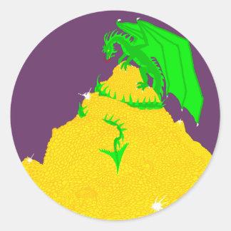 Dragon's Greed Classic Round Sticker