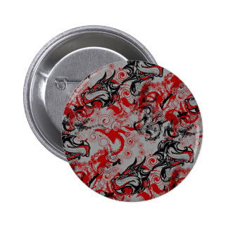 Dragons Grungy Abstract Art Pinback Button