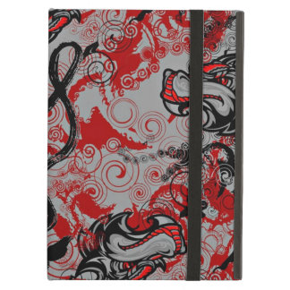 DRAGONS GRUNGY ABSTRACT CALLIGRAPHY ART iPad AIR CASE