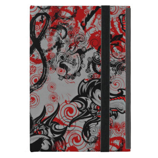 DRAGONS GRUNGY ABSTRACT CALLIGRAPHY ART iPad MINI CASE