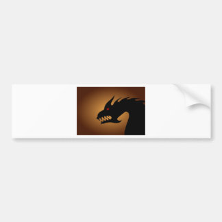 Dragons head bumper sticker