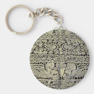 Dragons in Antique Lace Keychain