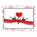 Dragons in Love with Hearts Postcard