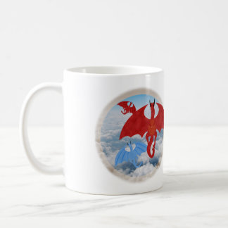 Dragons in the sky mug