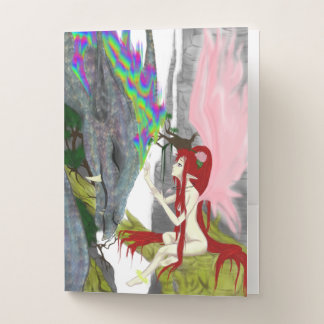 Dragon's Lair and Dragon Fairy Pocket Folder