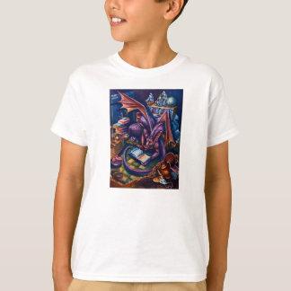 Dragon's Library, kid's t-shirt