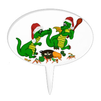 Dragons - Merry Christmas ! - today I will cook Cake Topper