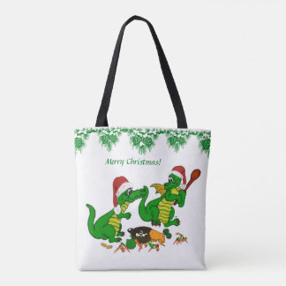 Dragons - Merry Christmas ! Today I will cook Tote Bag