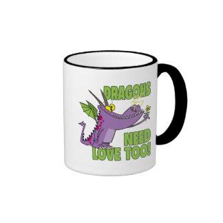 DRAGONS NEED LOVE TOO RINGER COFFEE MUG