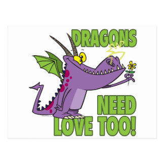 DRAGONS NEED LOVE TOO POSTCARDS