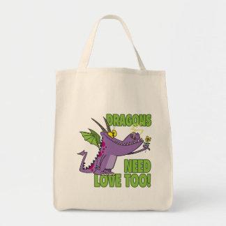 DRAGONS NEED LOVE TOO TOTE BAG