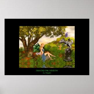 Dragons Oak Meadow Posters