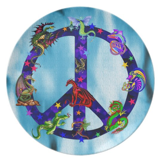 Dragons Of Peace Plate