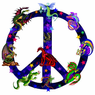Dragons Of Peace Standing Photo Sculpture