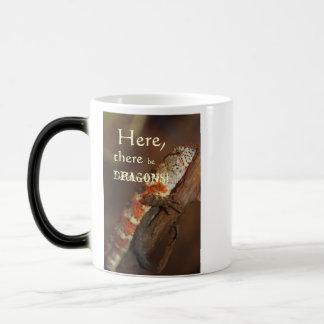 Dragons, Orange Lizard Mug