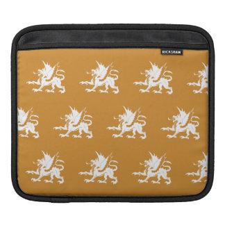 Dragons orange white iPad sleeves