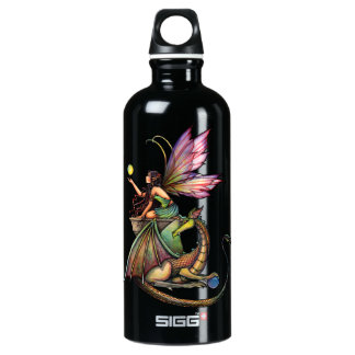 Dragon's Orbs Fairy and Dragon Aluminum Water Bottle