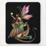 Dragon's Orbs Fairy and Dragon by Molly Harrison Mouse Pads