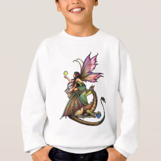 Dragon's Orbs Fairy and Dragon by Molly Harrison Sweatshirt