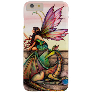 Dragon's Orbs Fairy and Dragon Fantasy Art Barely There iPhone 6 Plus Case