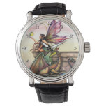 Dragon's Orbs Fairy and Dragon Fantasy Art Wrist Watches