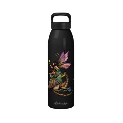 Dragon's Orbs Fairy and Dragon Water Bottle