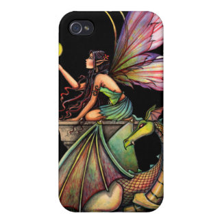 Dragon's Orbs Fantasy Fairy Dragon iPhone Case Cover For iPhone 4