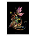 Dragon's Orbs Gothic Fairy Dragon Poster